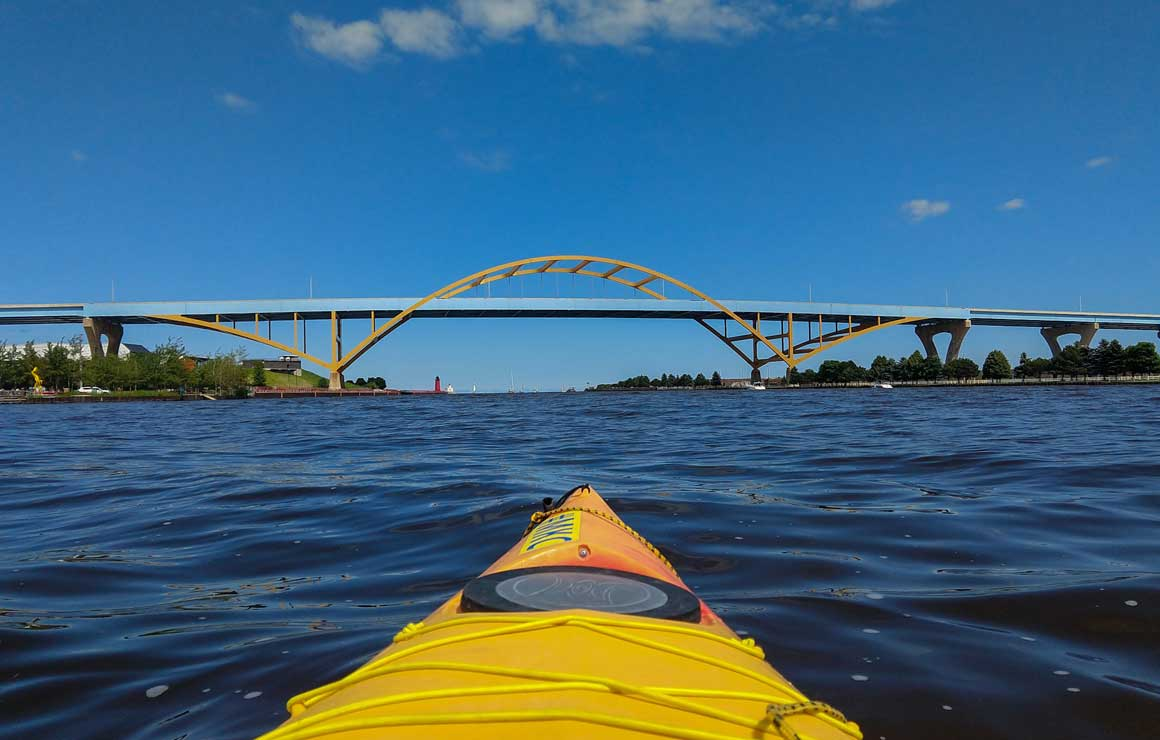 Milwaukee Kayak Company Hoan Bridge