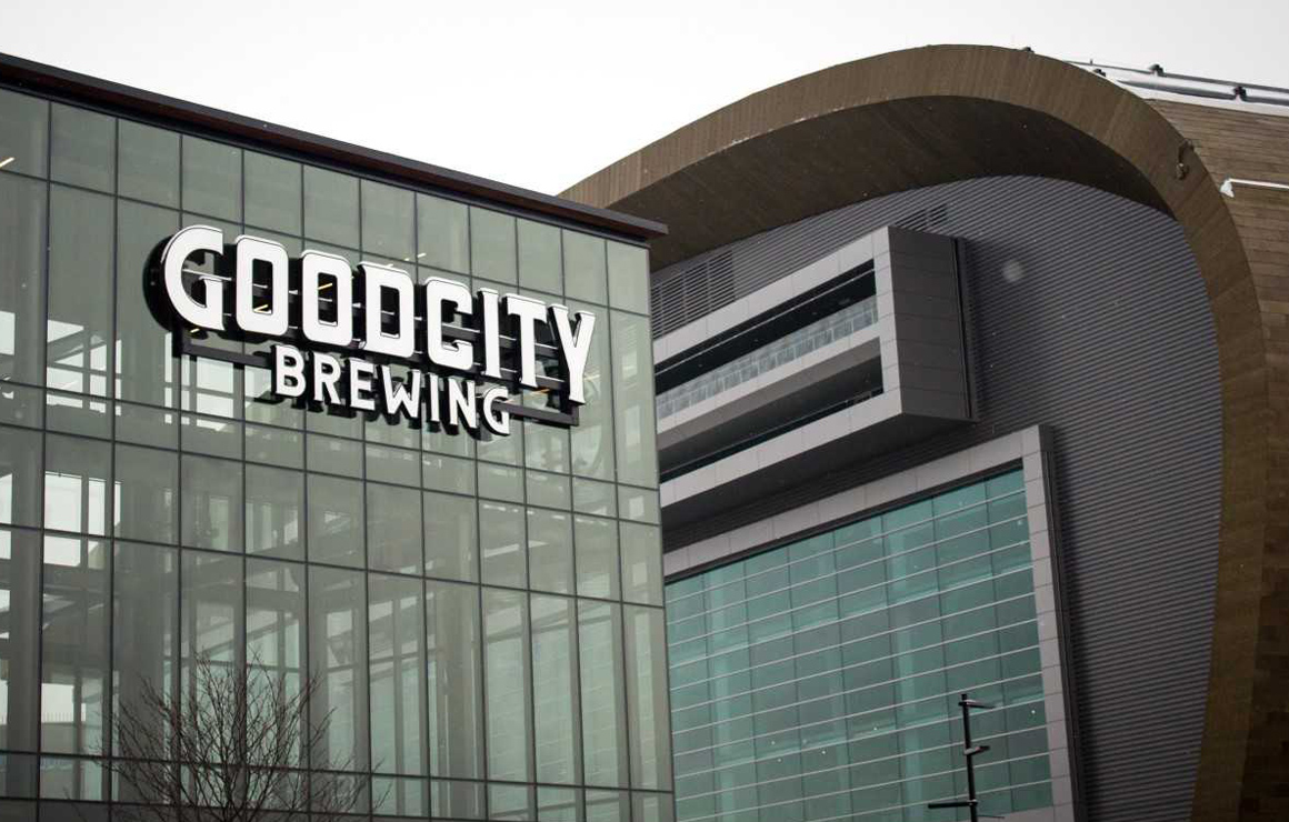 Good City Brewing at Bucks Entertainment Block Downtown Milwaukee