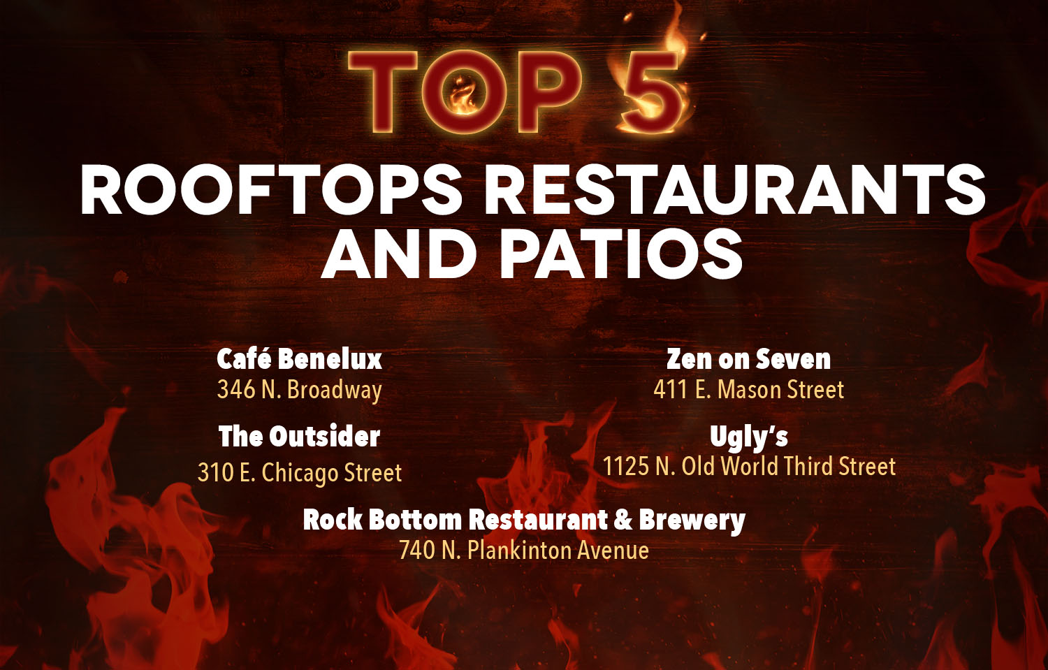 Milwaukee Downtown Top 5 Best Rooftop Restaurants & Patios