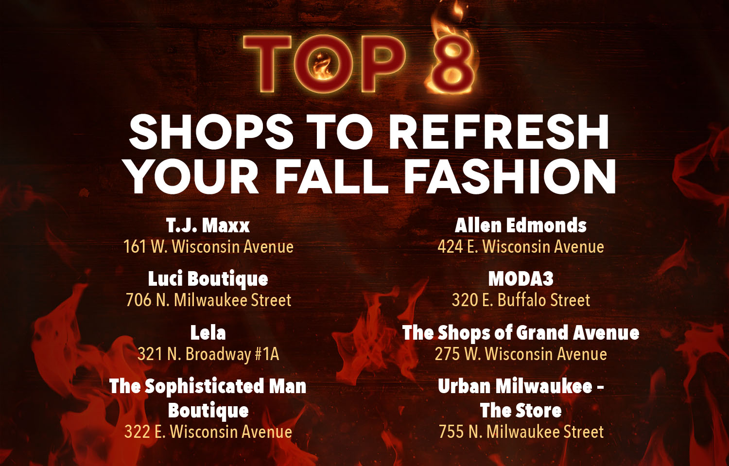 Milwaukee Downtown Top 8 Shops To Refresh Your Fall Fashion