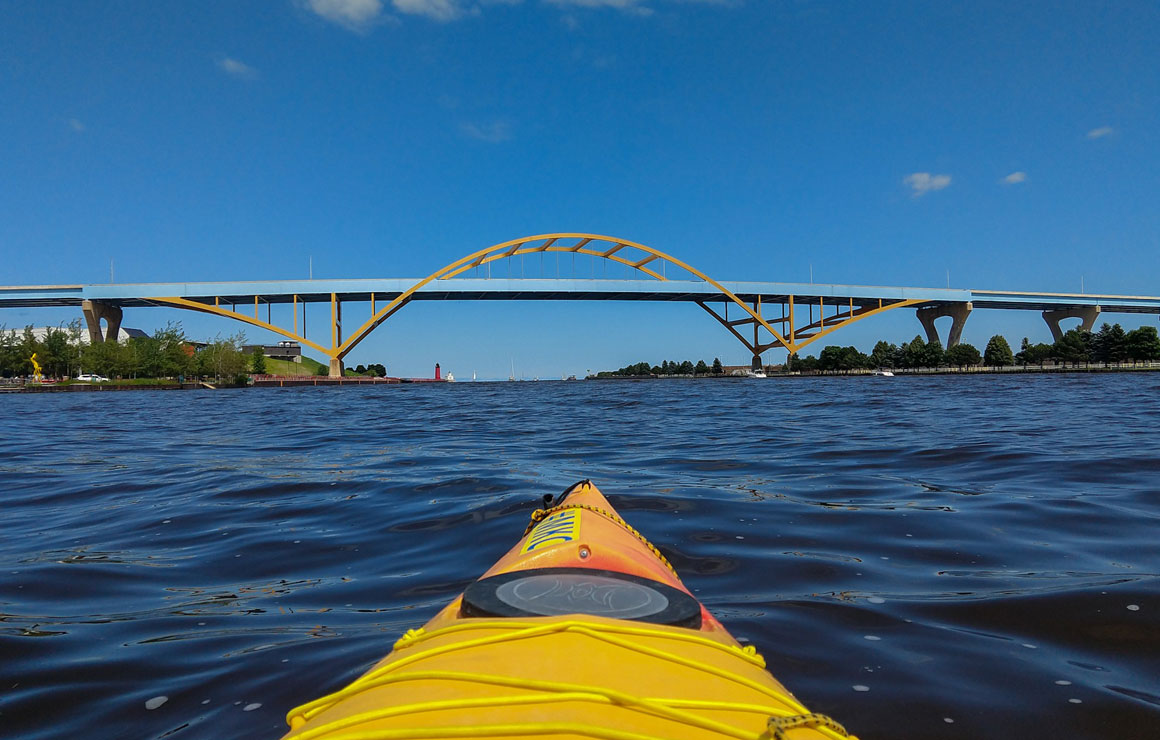 Kayaking on the Milwaukee River