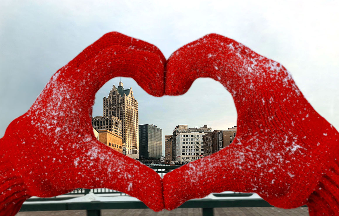 Heart hands over Milwaukee