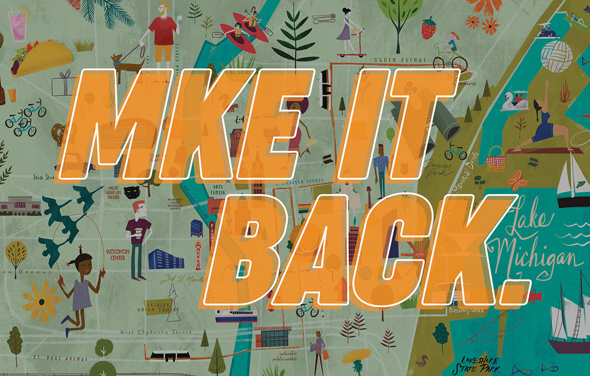 MKE it Back graphic