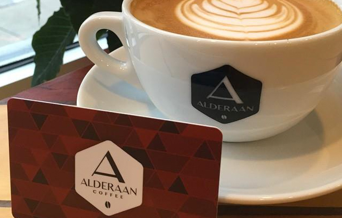 Alderaan is a coffee shop for those who have an appreciation for Star Wars
