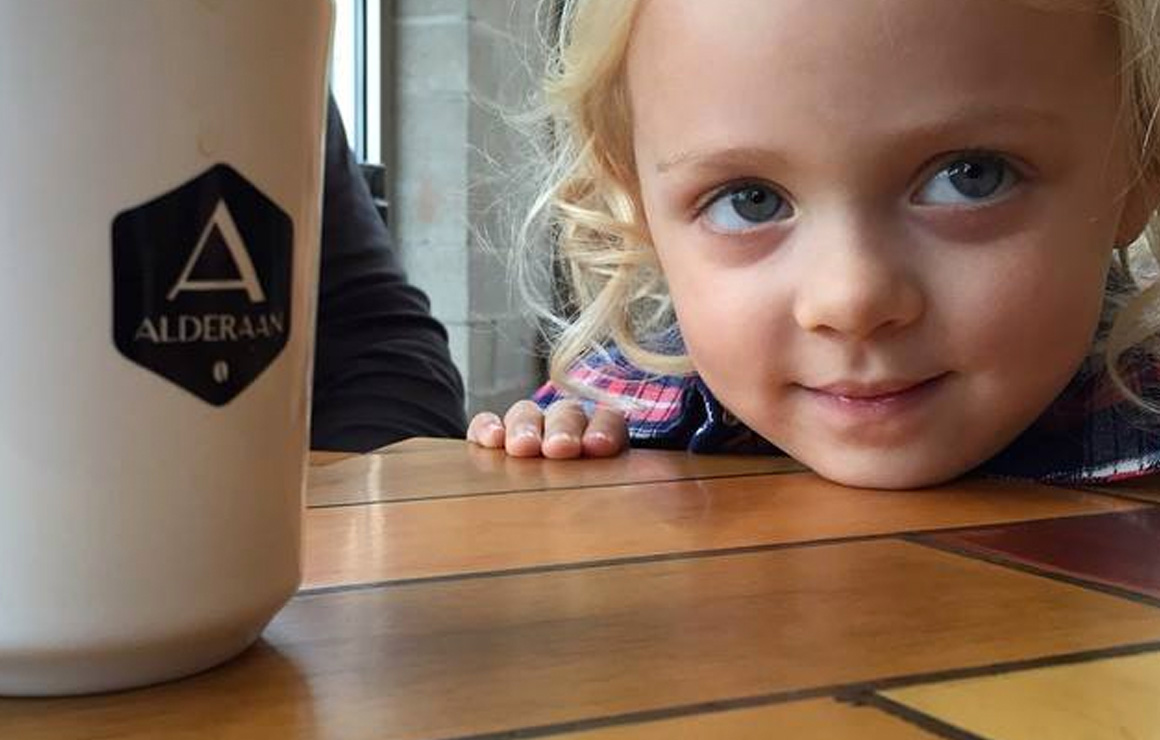 Alderaan Brews is a family friendly coffee location and offers many different brews.