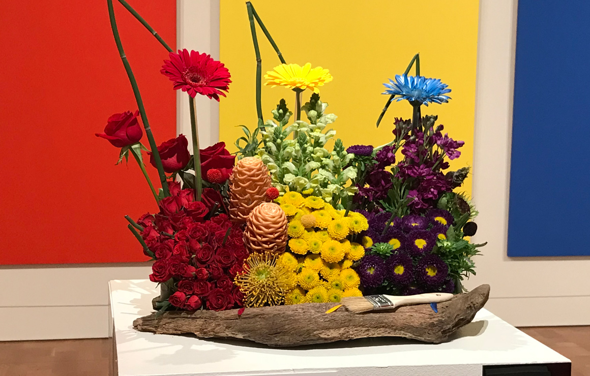 Art in Bloom piece at the Milwaukee Art Museum