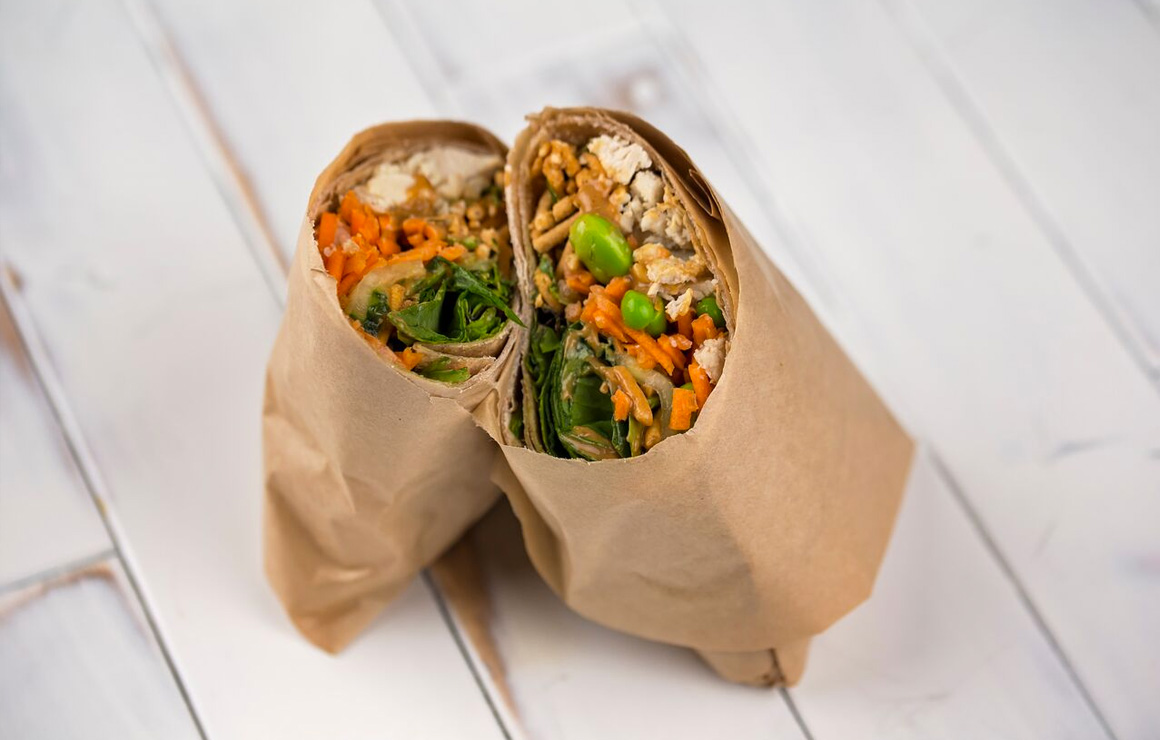 Grassroots asian styled wrap