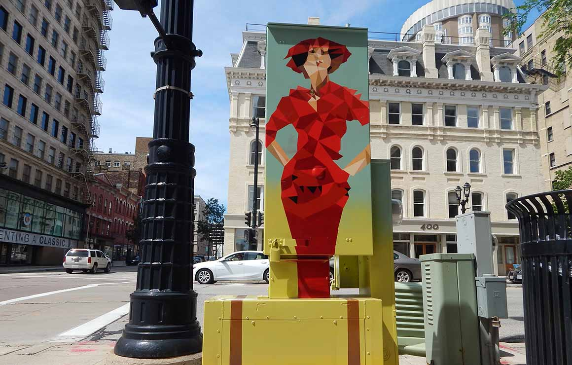 Utility Box Mural Milwaukee Downtown Public Art Placemaking